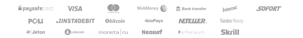 logos from available payment methods