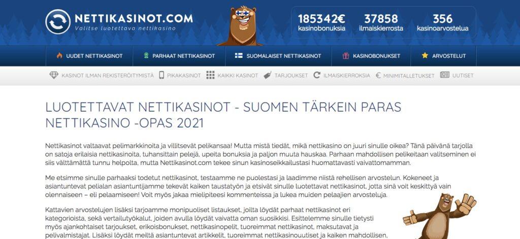 nettikasinot.com home page