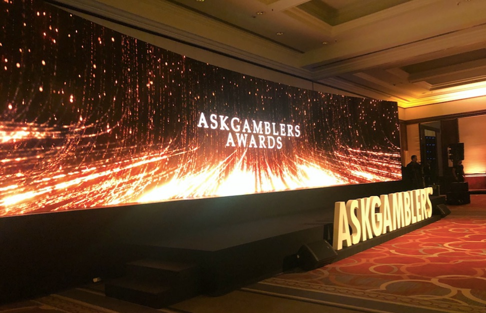 image from the askgamblers awards showing the main stage
