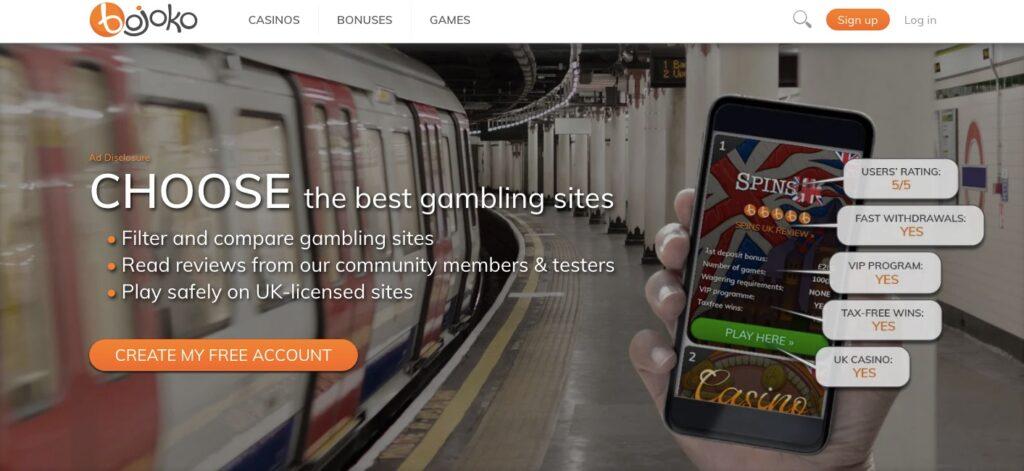 bojoko casino portal start page uk version