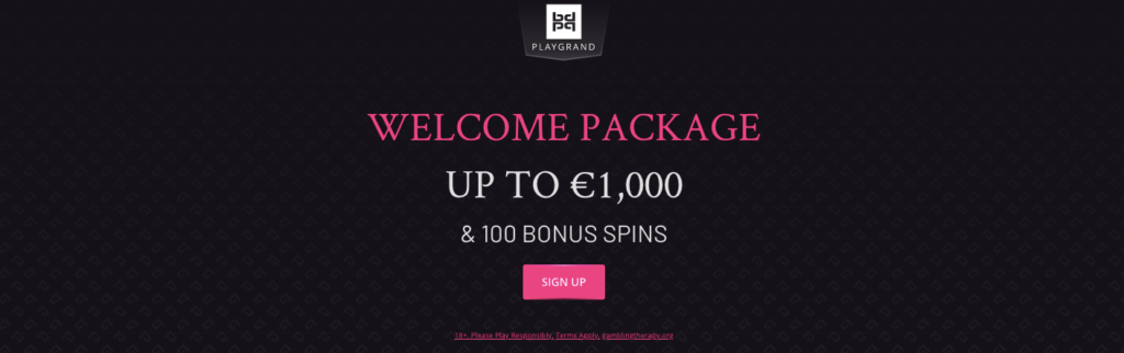 the playgrand casino welcome bonus package