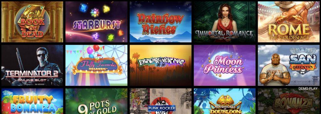 fifteen popular casino slots at royaltigerbet casino