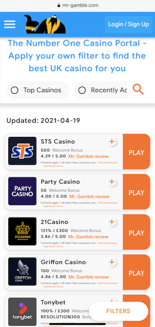 mr gamble home page mobile version