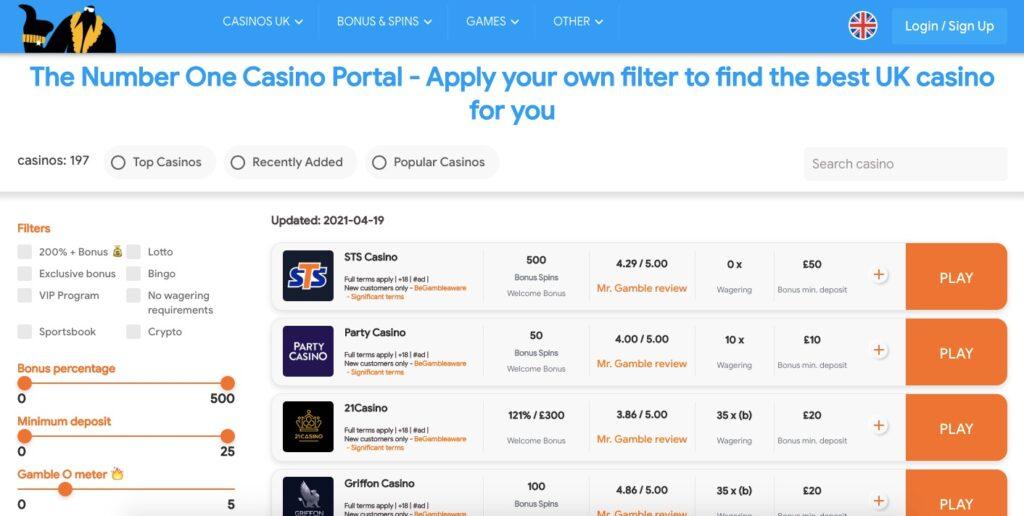 mr gamble casino portal uk home page