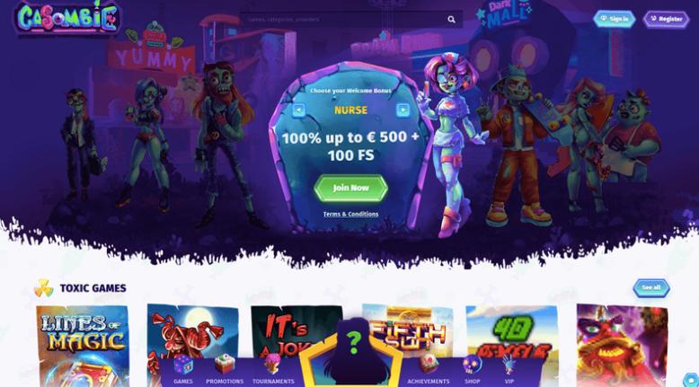 casombie online casino start page