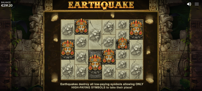 the gonzos quest megaways earthquake feature