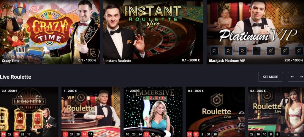 eight popular live casino games from evolution gaming