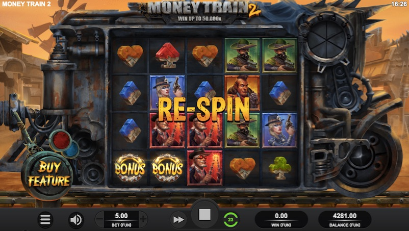example of the money train 2 re-spin feature