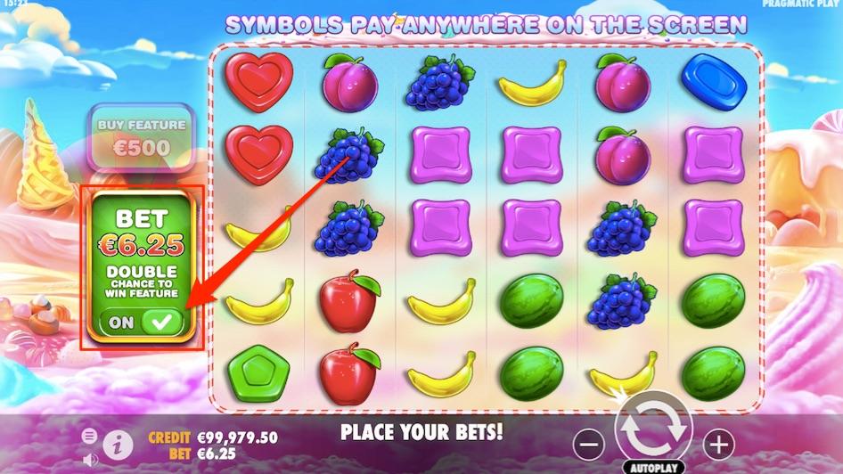 the ante bet option in sweet bonanza slot