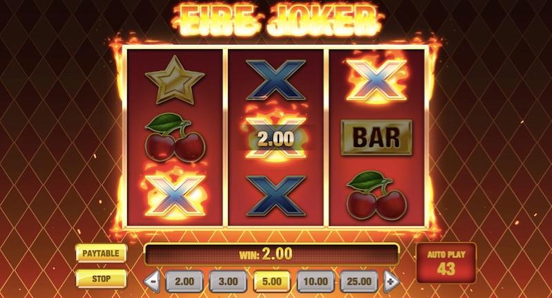 example of a win in fire joker slot
