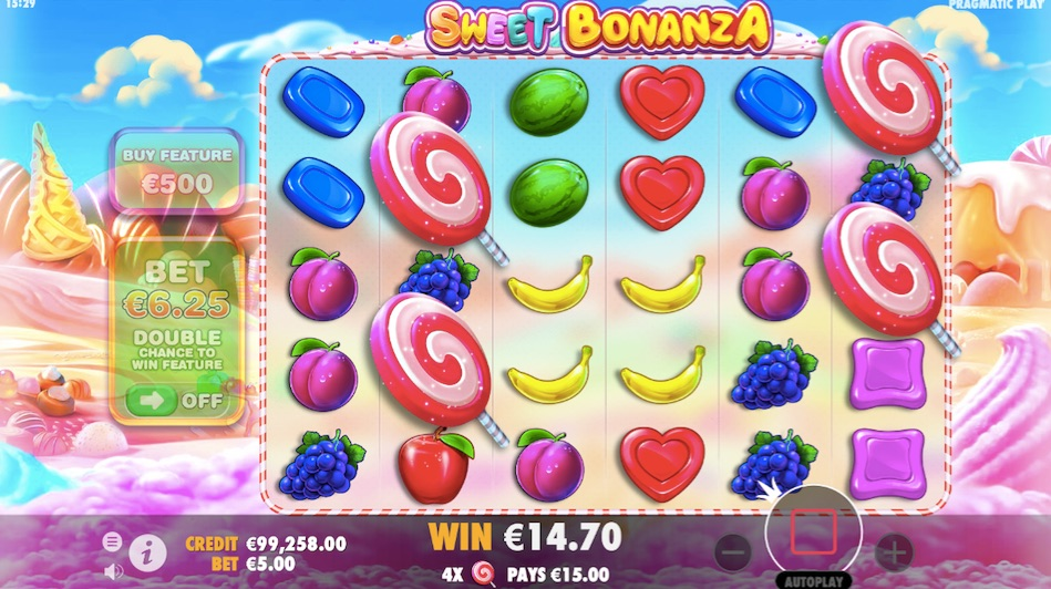 four scatters activates the free spins bonus game