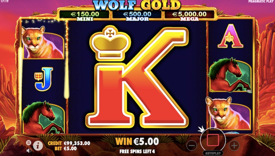 free spins wolf gold slot