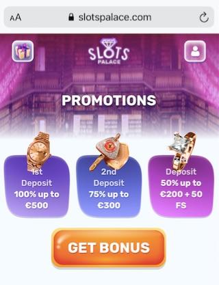 welcome bonuses at slotspalace casino